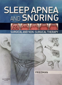 Sleep apnea and snoring book cover